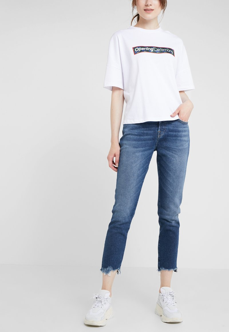 7 for all mankind - ASHER LUXE WITH DESTROYED HEM - Straight leg jeans - vintage pacific grove