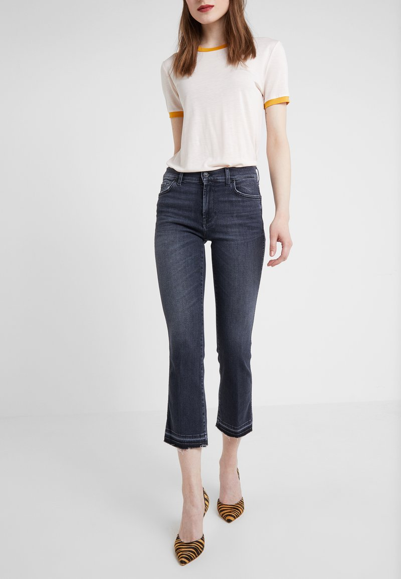 7 for all mankind - UNROLLED ILLUSION HONEST - Jeans bootcut - blue denim