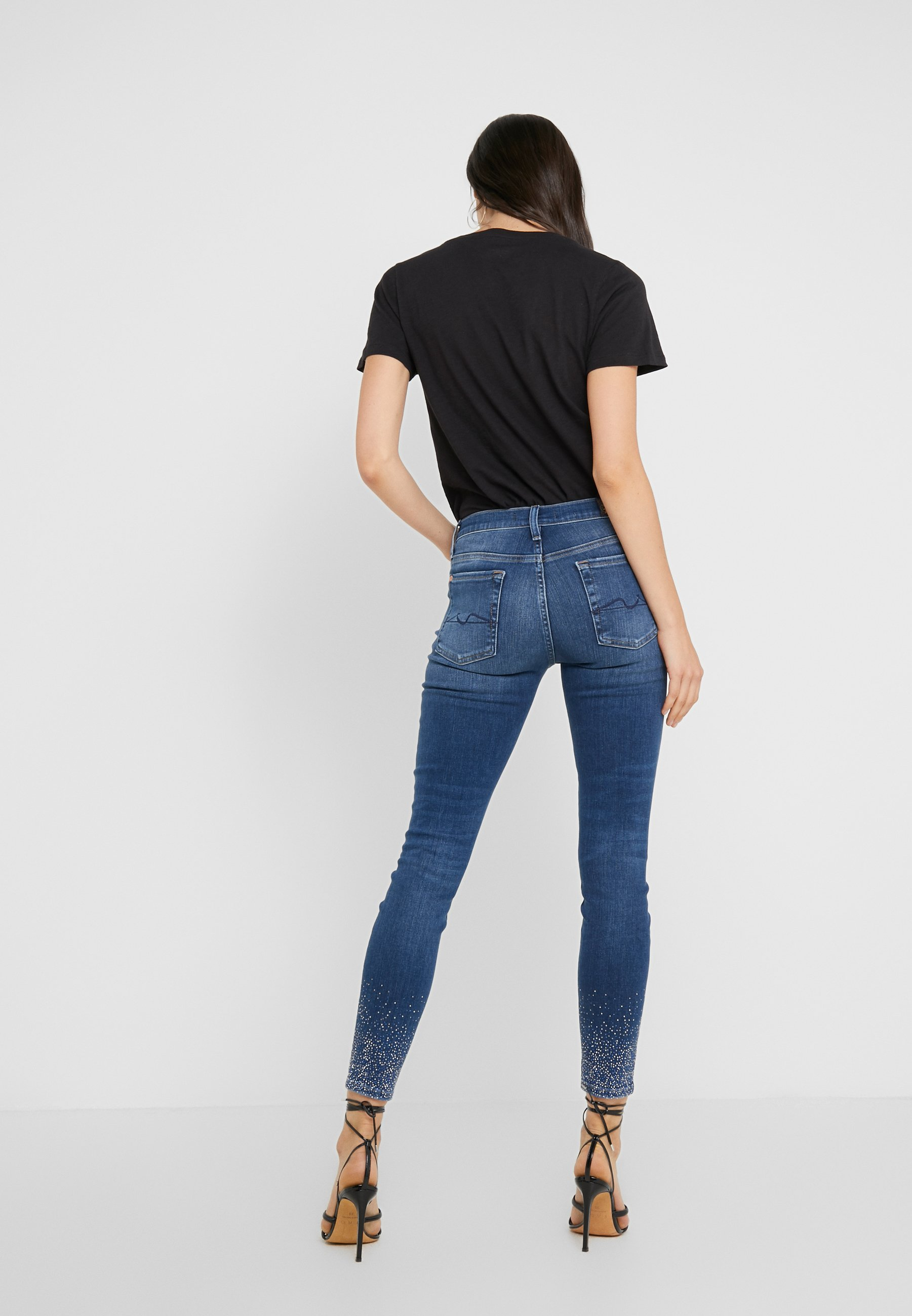 Illusion All With 7 Blue Crystal For HemJeans Mankind Denim Old Skinny Song hsQCdtr