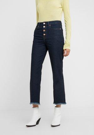 VINTAGE CROPPED - Skinny džíny - dark blue