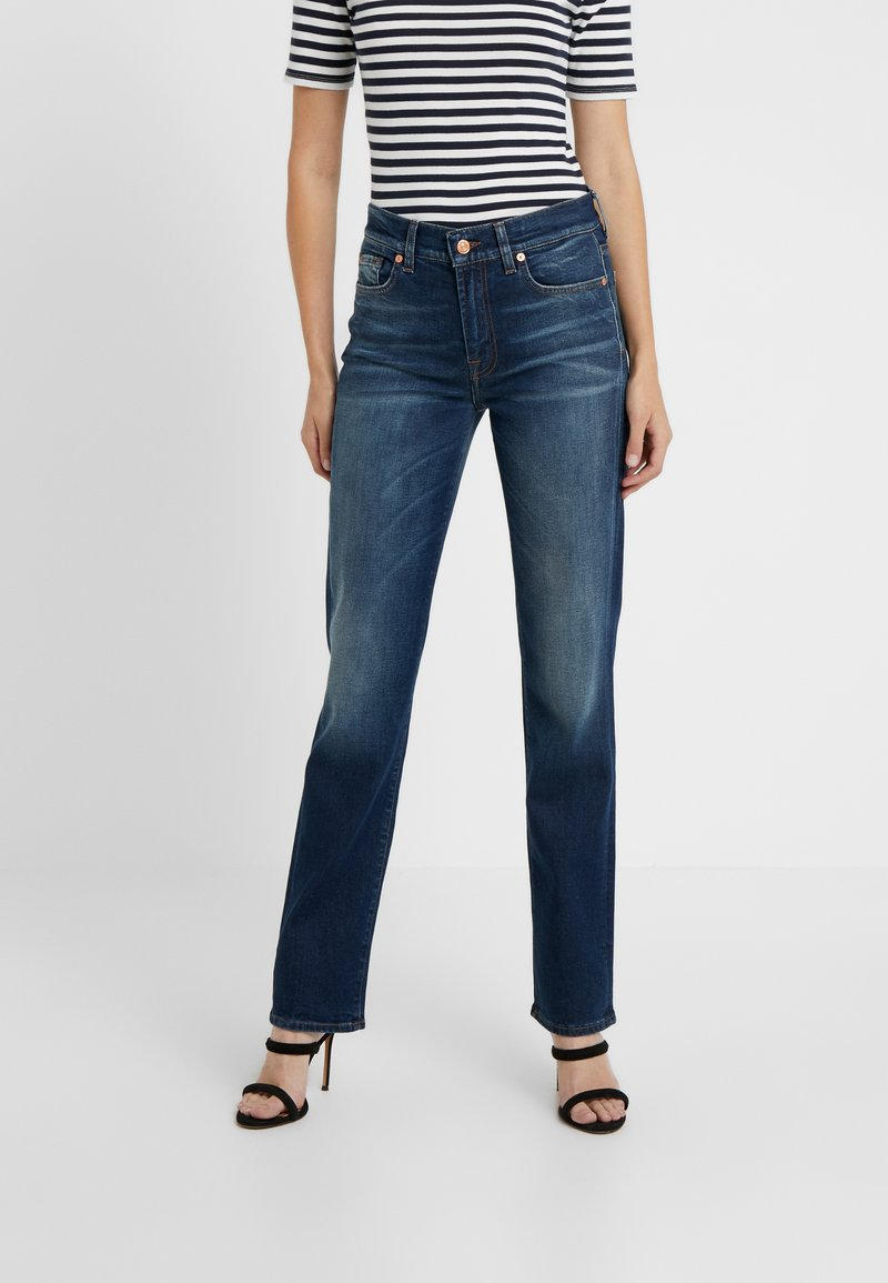 7 for all mankind - EN ROUTE - Jeans a sigaretta - dark blue