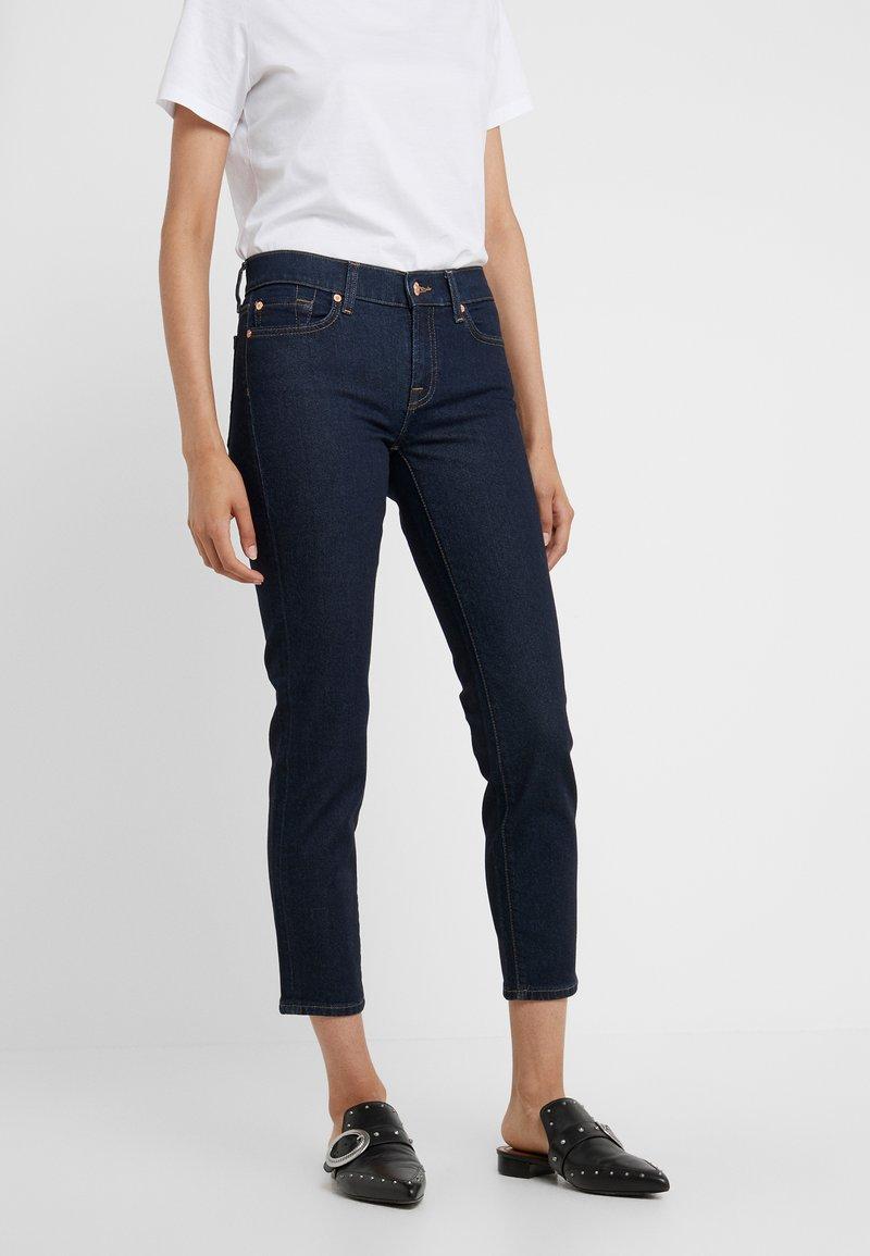 7 for all mankind - MID RISE ROXANNE ORIGINAL - Straight leg jeans - dark blue