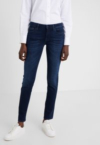 7 for all mankind - PYPER ILLUSION HOMELAND - Jeansy Skinny Fit - dark blue - 0