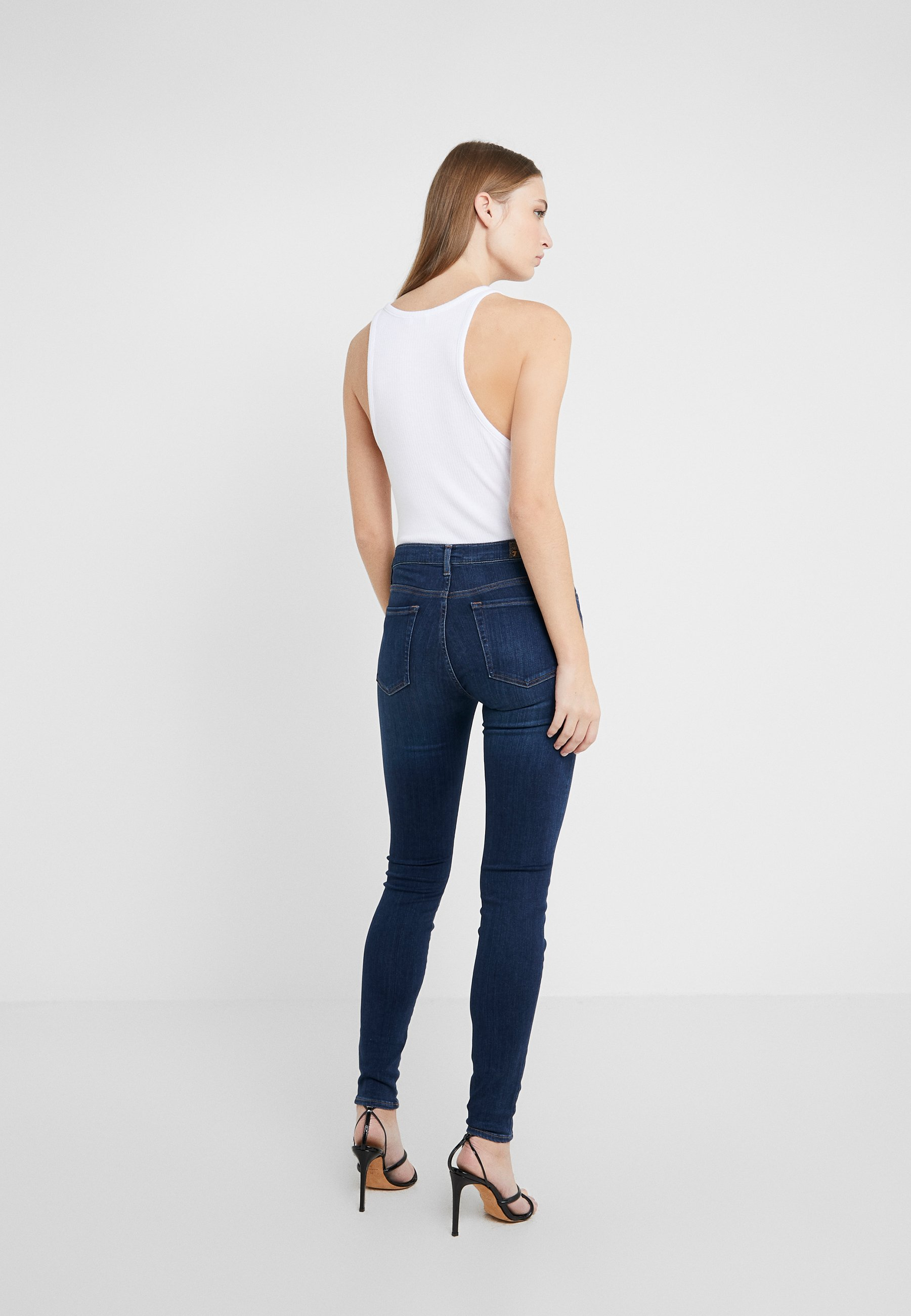 7 for all mankind ILLUSION LUXE LOVESTORY - Jeansy Skinny Fit - mid blue
