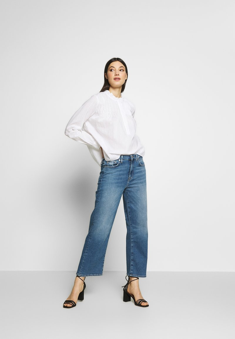 7 for all mankind CROPPED ALEXA - Flared jeans - blue