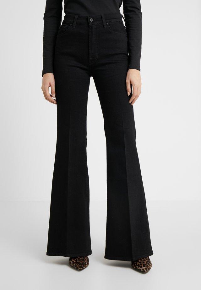FLARE - Flared jeans - black
