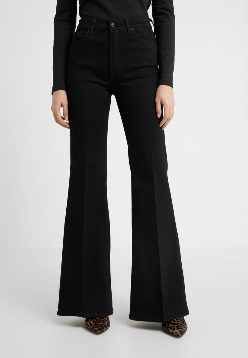 7 for all mankind - FLARE - Flared Jeans - black