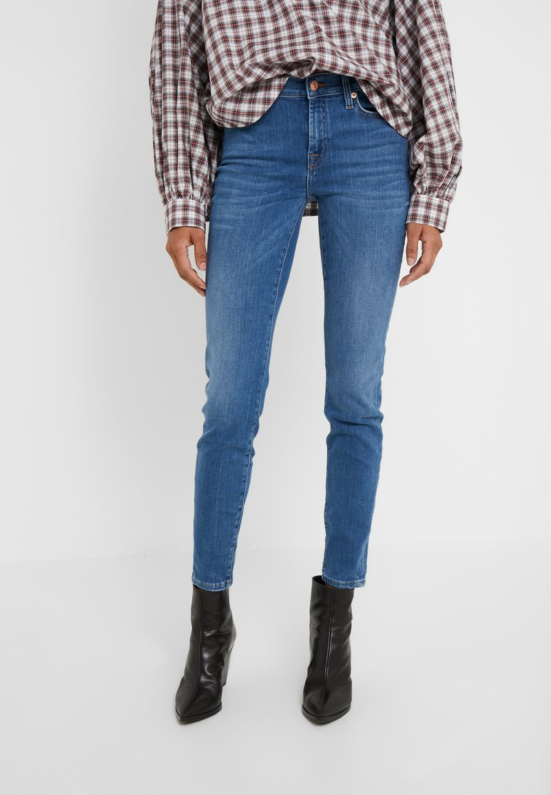 7 for all mankind - Jeans Skinny Fit - blue denim