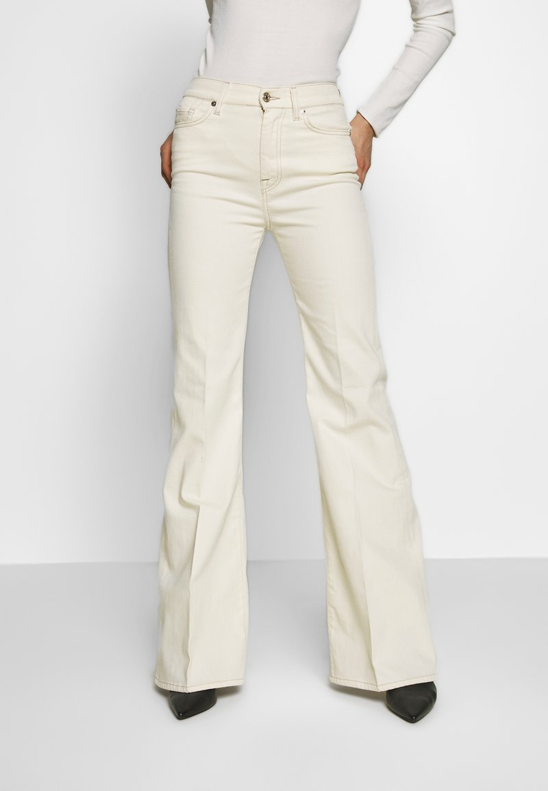 7 for all mankind - Flared Jeans - off white