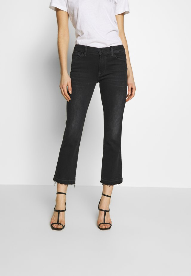 UNROLLED - Jeans Bootcut - black