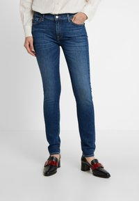 7 for all mankind - Jeans Skinny Fit - elite mid indigo - 0