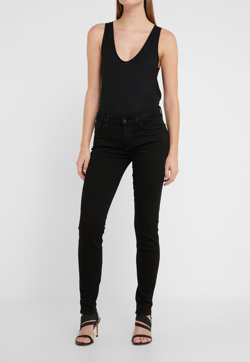 7 for all mankind - THE ILLUSION FAME WITH BRAIDES - Jeans Skinny - black