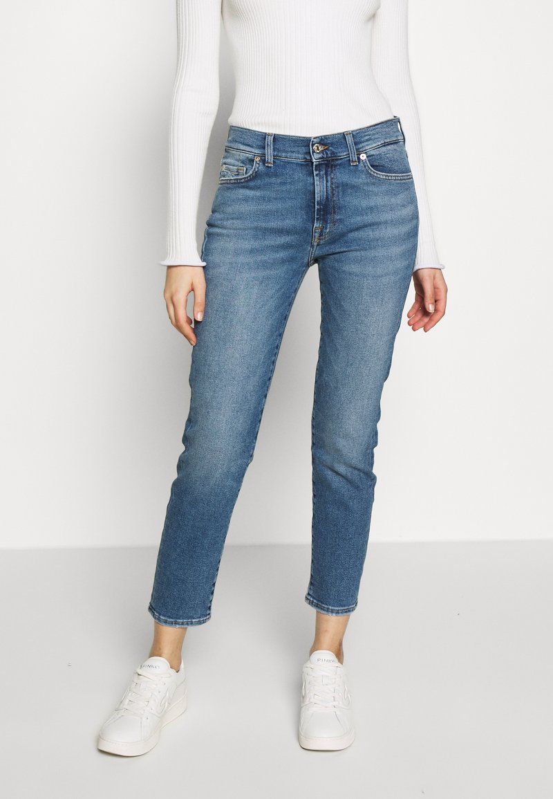 7 for all mankind - ROXANNE - Straight leg jeans - mid blue