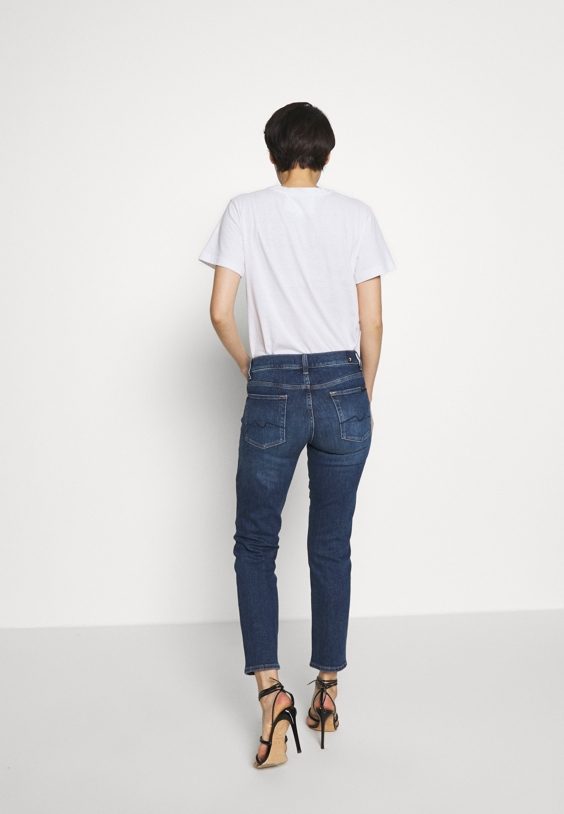 7 for all mankind ROXANNE ANKLE - Jeansy Straight Leg - dark blue