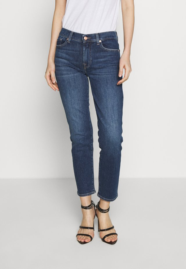ROXANNE ANKLE - Jeans Straight Leg - dark blue