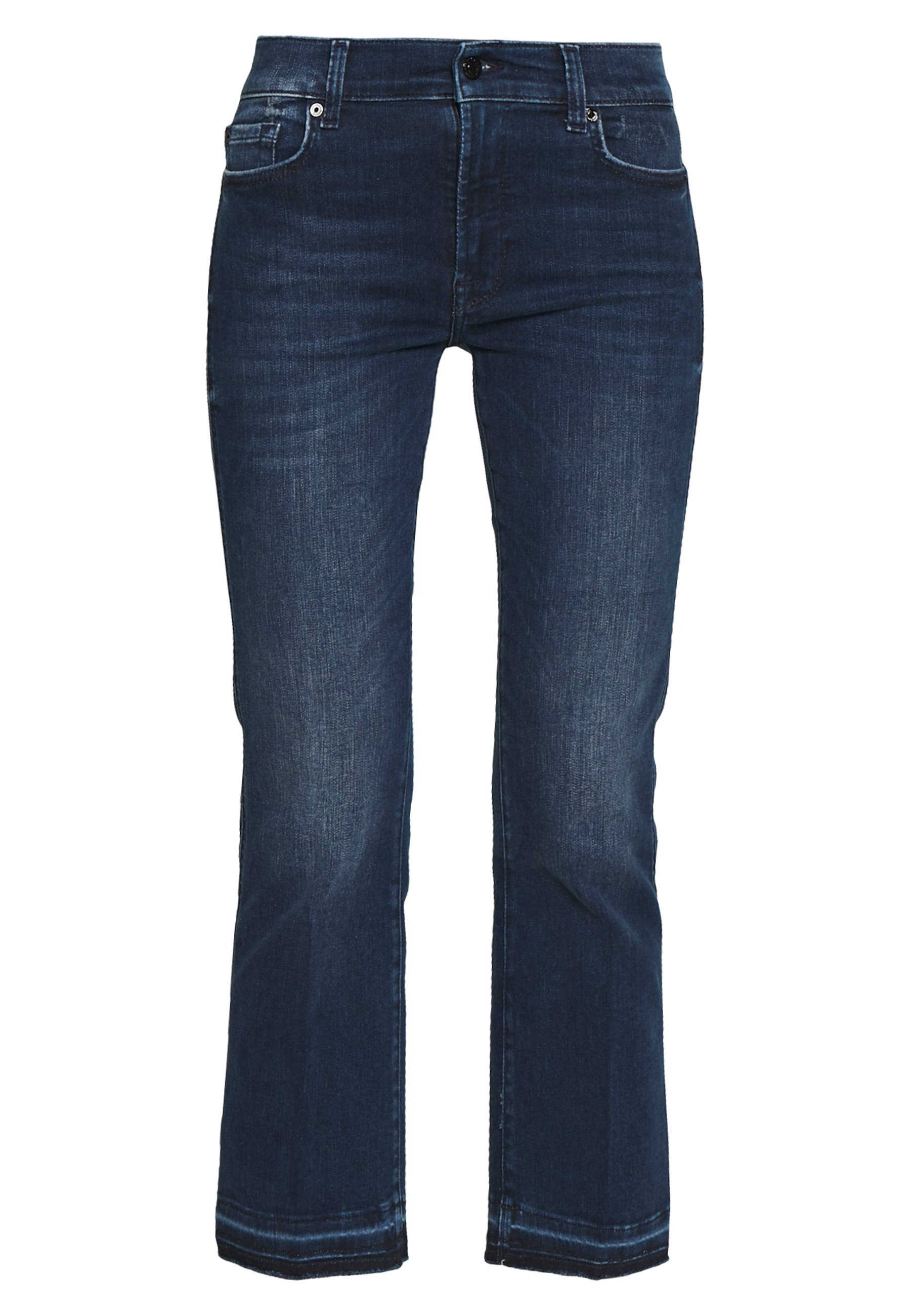 7 For All Mankind Cropped Unrolled - Jeans Bootcut Dark Blue PlHZ9L2