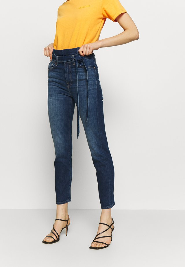 PAPERBAG PANT - Jean slim - dark blue