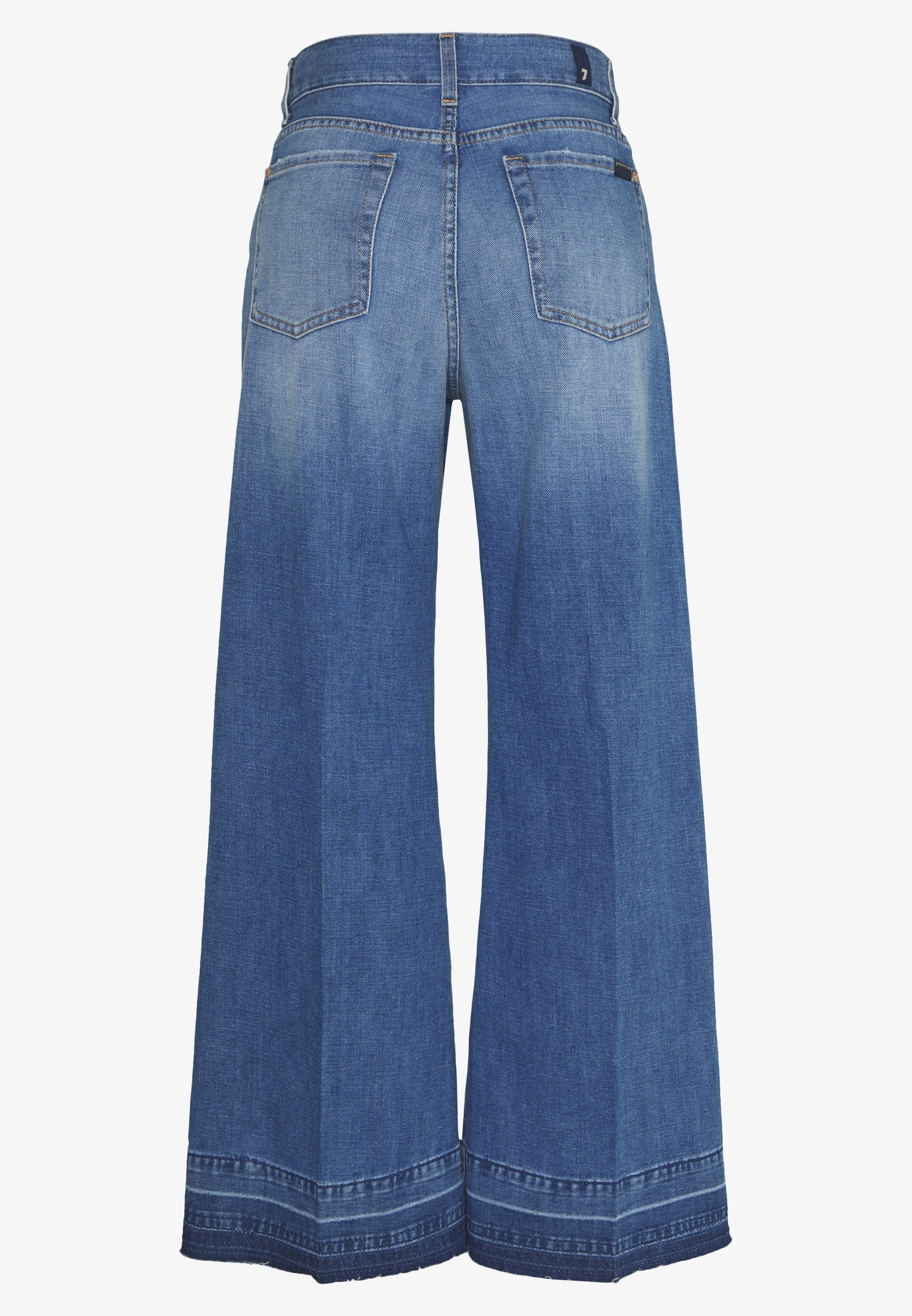 7 for all mankind LOTTA CROPPED UNROLLED - Jeansy Bootcut - dark blue
