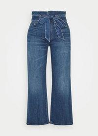 7 for all mankind - CROP ALEXA PAPERBAG  - Jeans Bootcut - dark blue - 4