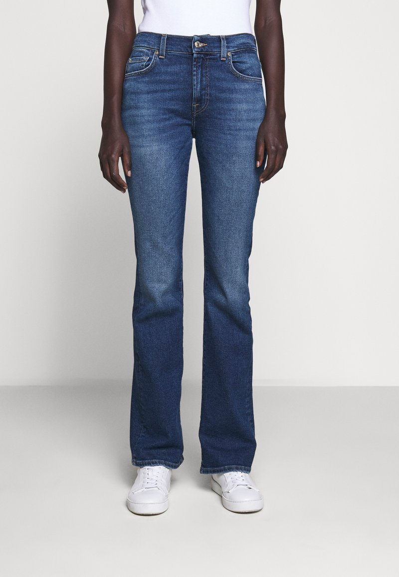 7 for all mankind - Jeans Bootcut - mid blue