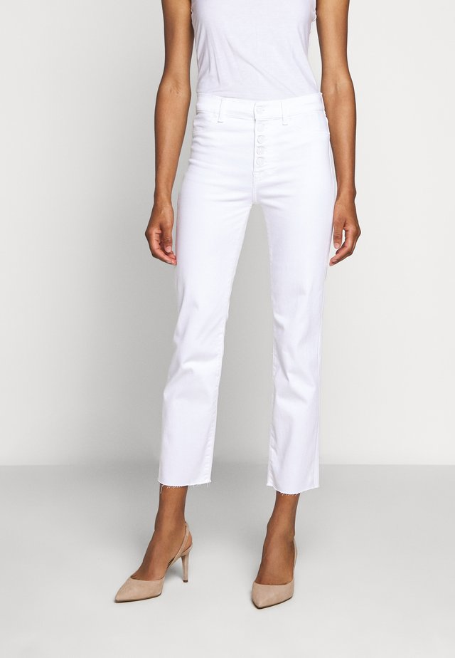 THE STRAIGHT CROP - Jeans Straight Leg - white