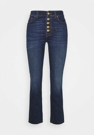 THE STRAIGHT CROP - Jeansy Slim Fit - dark blue