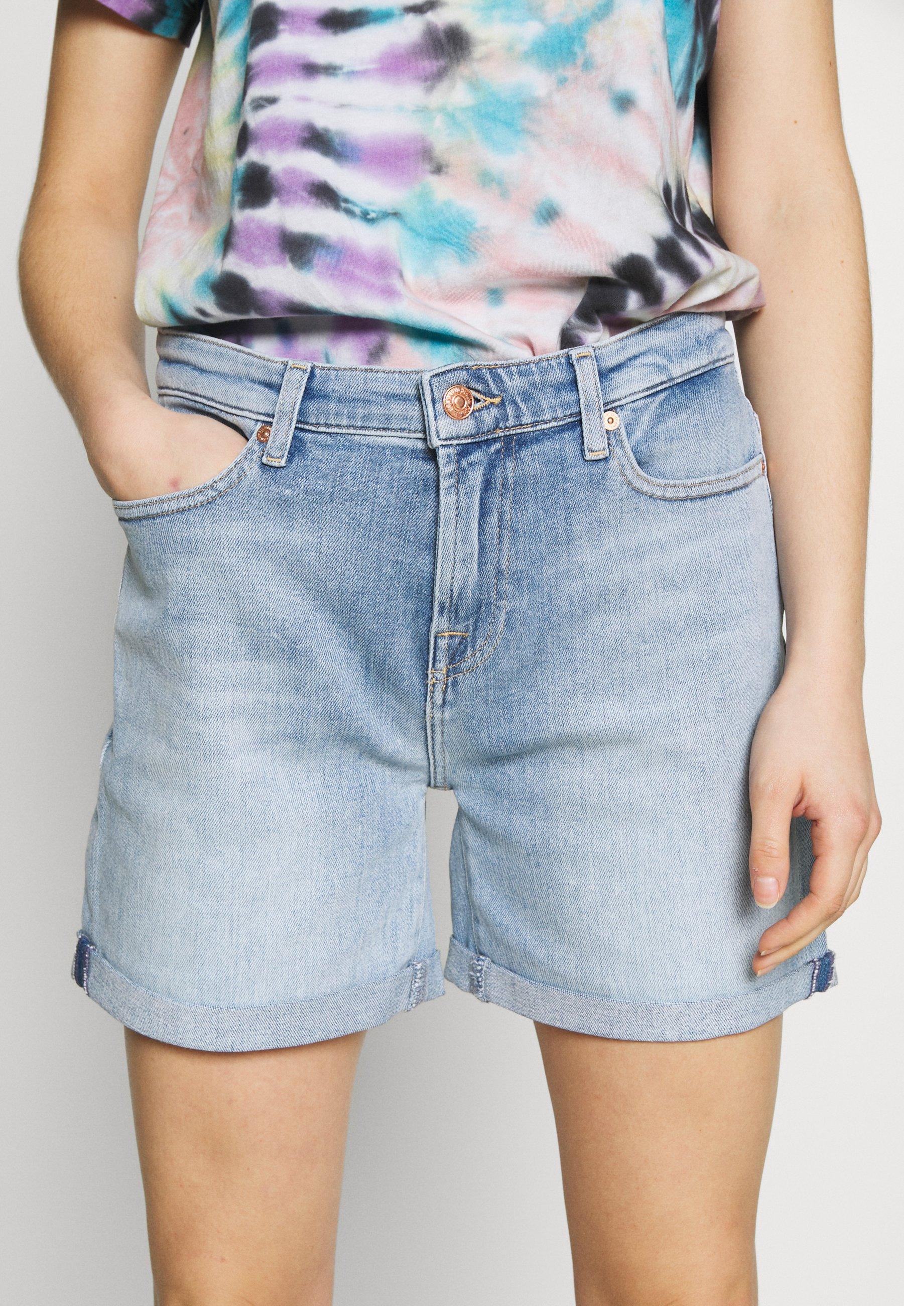 7 for all mankind BOY - Szorty jeansowe - light blue