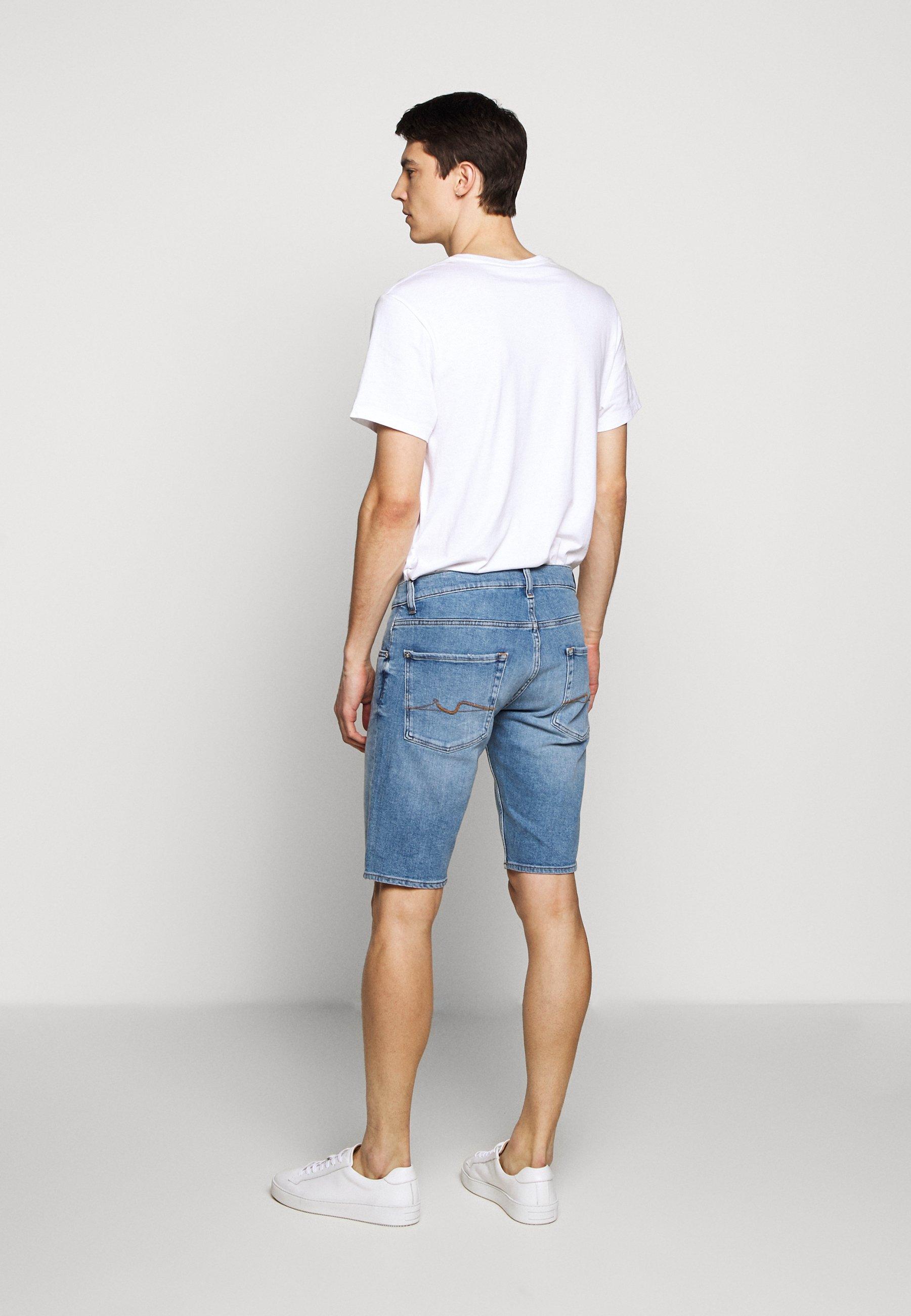 7 For All Mankind Regular Hemet - Jeans Short / Cowboy Shorts Light Blue