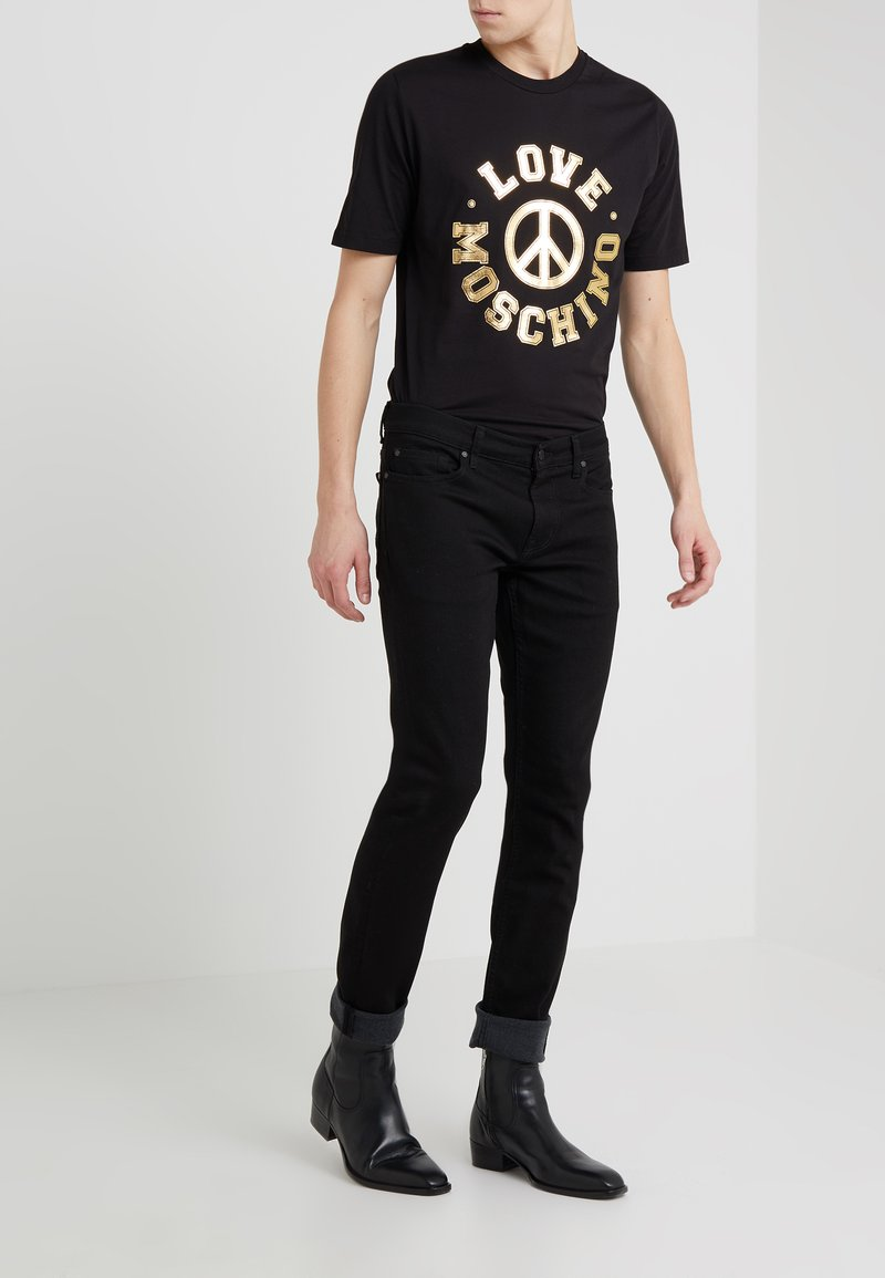 7 for all mankind - RONNIE LUXE PERFORMANCE - Jeansy Slim Fit - rinse black