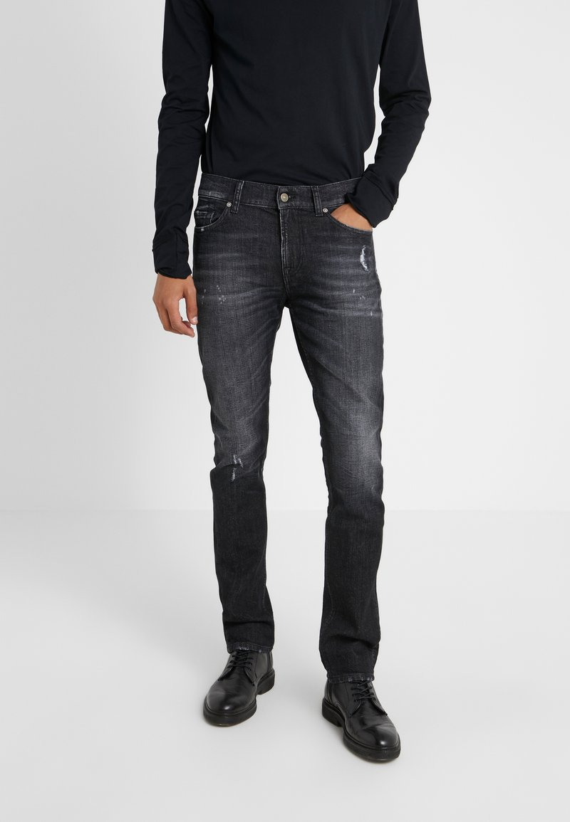 7 for all mankind - RONNIE TEXAS SOUL - Jeans Slim Fit - black