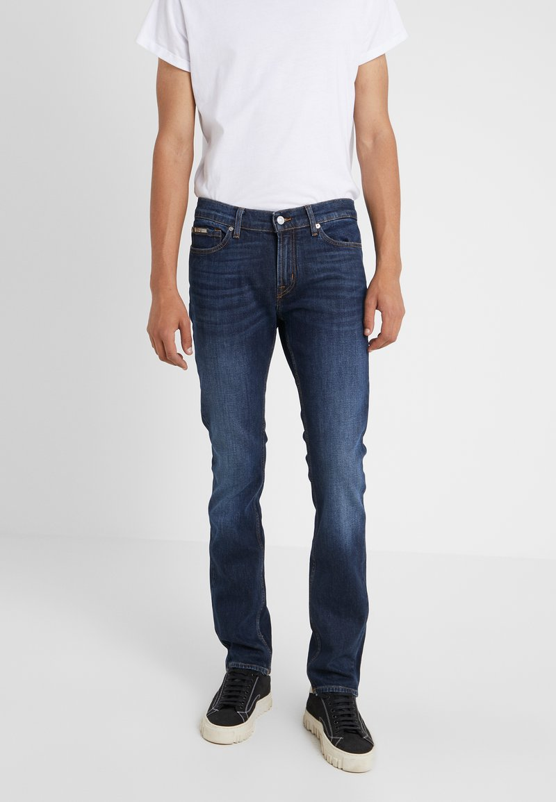 7 for all mankind - RONNIE SPECIAL EDITION PLUCKY - Slim fit -farkut - dark blue