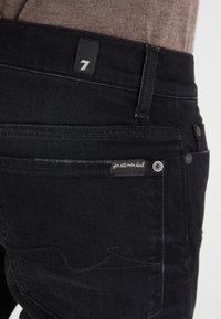 7 for all mankind - RONNIE RODEZ DISTRESSED - Jeans Slim Fit - black - 3