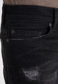 7 for all mankind - RONNIE RODEZ DISTRESSED - Jeans Slim Fit - black - 5