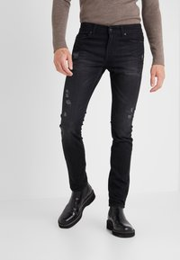 7 for all mankind - RONNIE RODEZ DISTRESSED - Jeans Slim Fit - black - 0