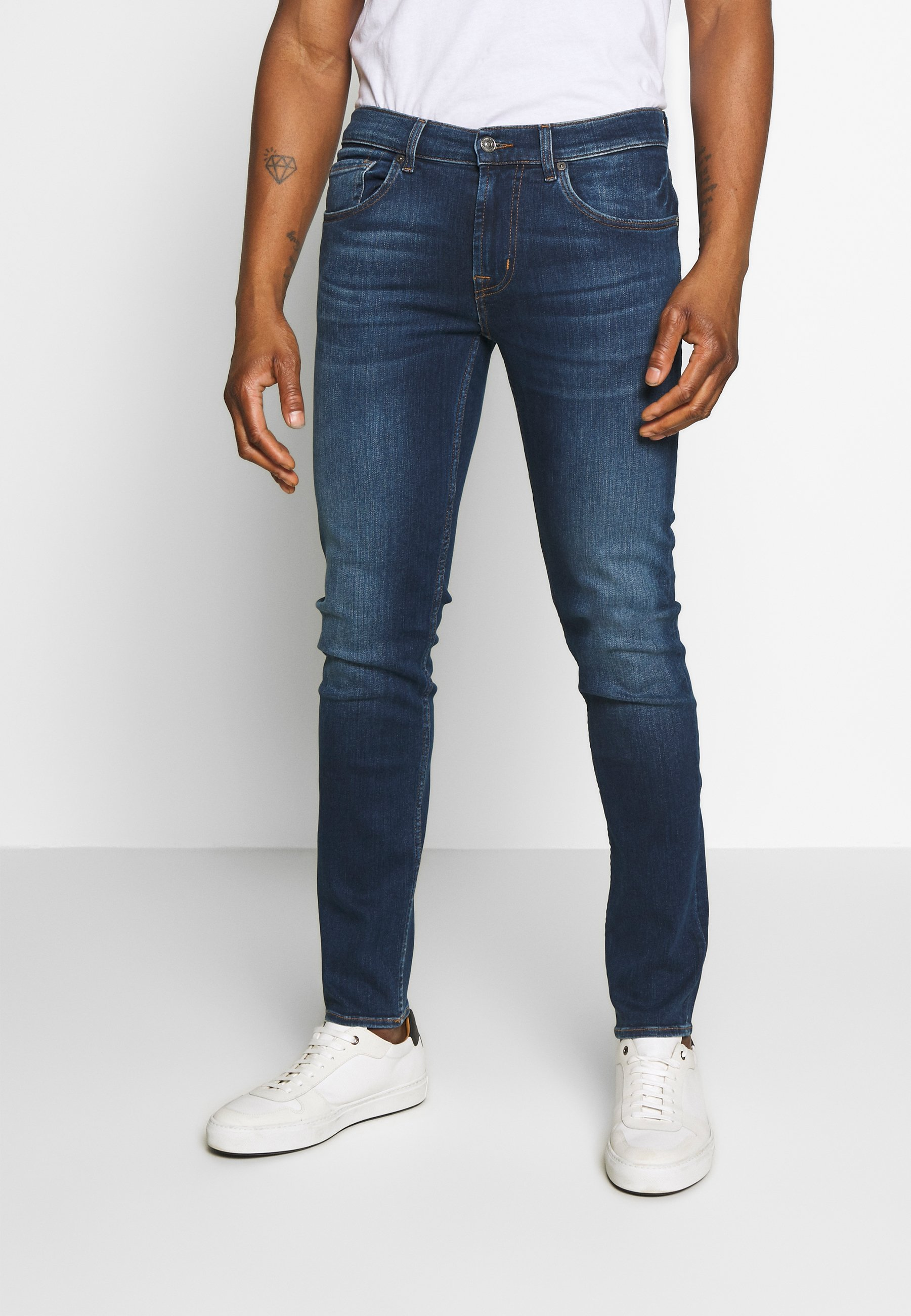 7 For All Mankind Jeans Tapered Fit - Dark Blue SSGwocu