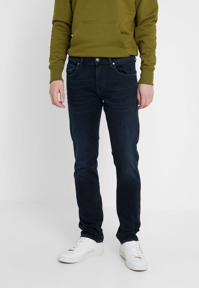 SLIMMY - Vaqueros slim fit - washed blue black