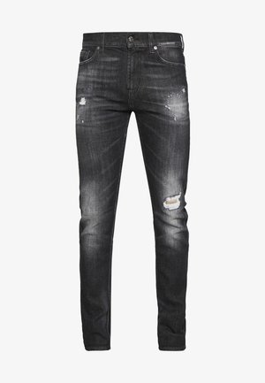 RONNIE DESTROYED - Džíny Slim Fit - washed black