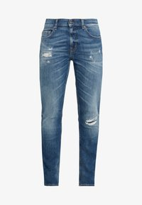 7 for all mankind - RONNIE DESTROYED - Vaqueros slim fit - mid blue - 4