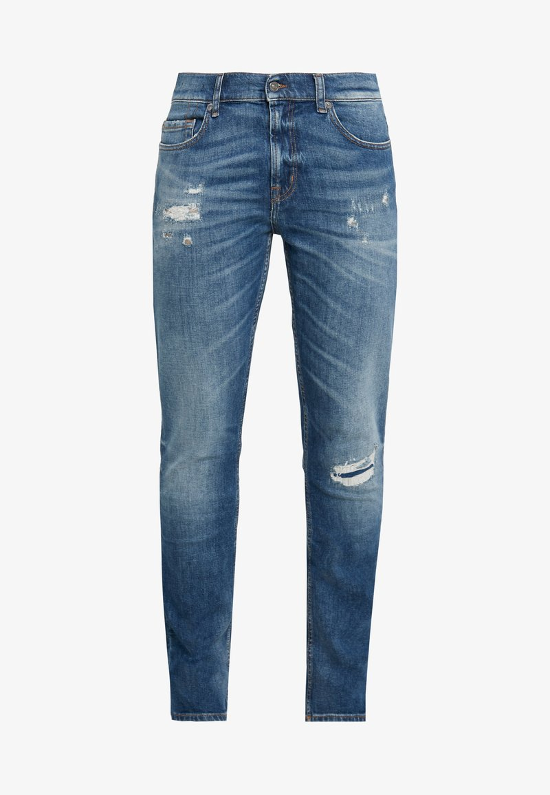 7 for all mankind RONNIE DESTROYED - Jeans slim fit - mid blue