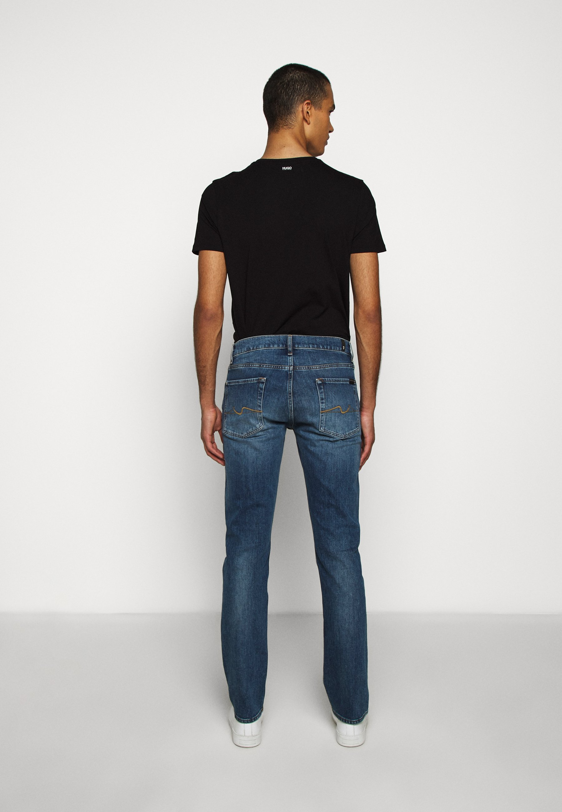 7 For All Mankind Officer - Jeans Slim Fit Mid Blue sU04d