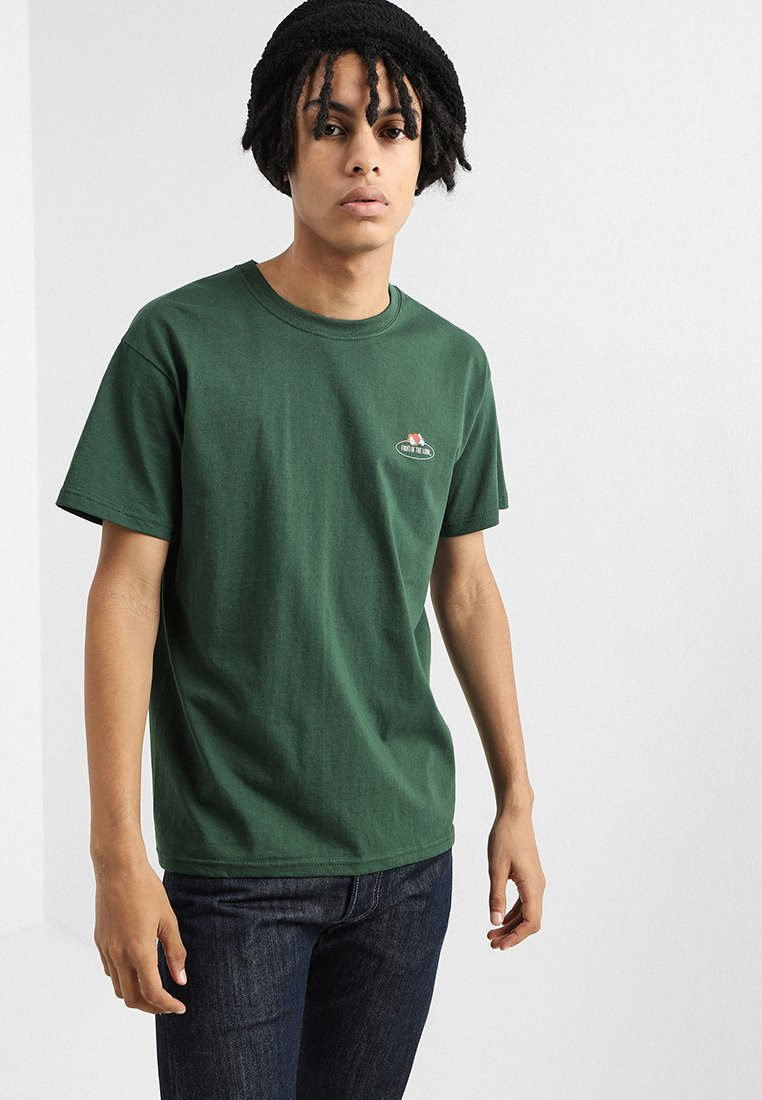 Fruit of the Loom - MENS CLASSIC SMALL CLUSTER FRONT - T-shirt basique - dark green