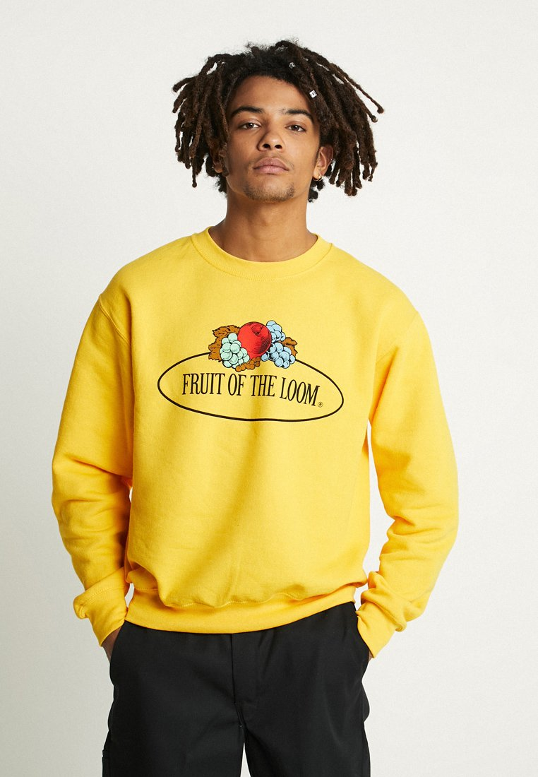 Fruit of the Loom - MENS CLASSIC LARGE CLUSTER PRINT FRONT - Sweatshirt - sunflower