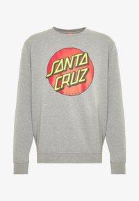 Santa Cruz - UNISEX CLASSIC DOT CREW  - Sweatshirt - dark heather - 4