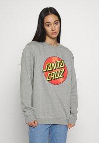 Santa Cruz - UNISEX CLASSIC DOT CREW  - Sweatshirt - dark heather - 3