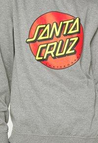 Santa Cruz - UNISEX CLASSIC DOT CREW  - Sweatshirt - dark heather - 5