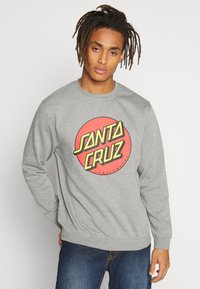 Santa Cruz - UNISEX CLASSIC DOT CREW  - Sweatshirt - dark heather - 0