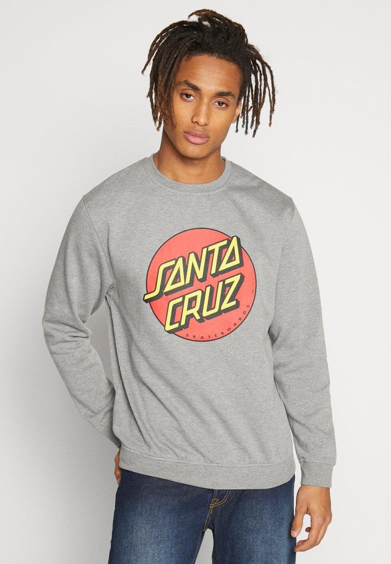 Santa Cruz - UNISEX CLASSIC DOT CREW  - Sweatshirt - dark heather