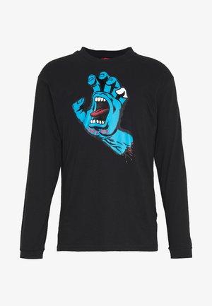 SANTA CRUZ UNISEX SCREAMING HAND LONGLSEEVE TEE - Langærmede T-shirts - black