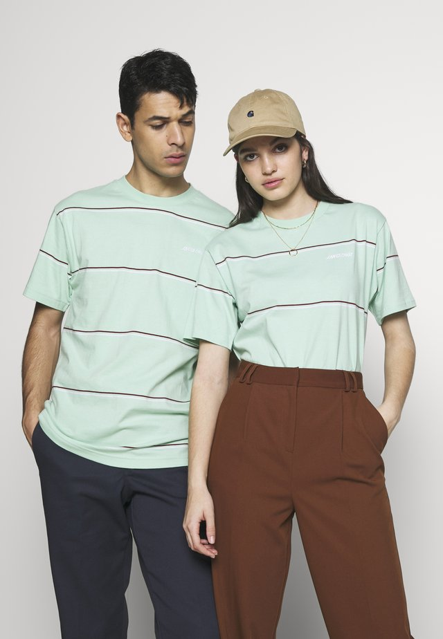 UNISEX OPUS DOT STRIPE - T-shirts med print - mint