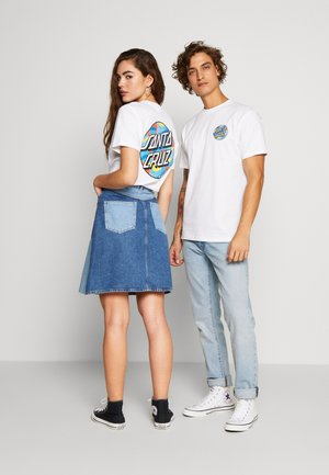 UNISEX PRIMARY DOT - T-shirt con stampa - white